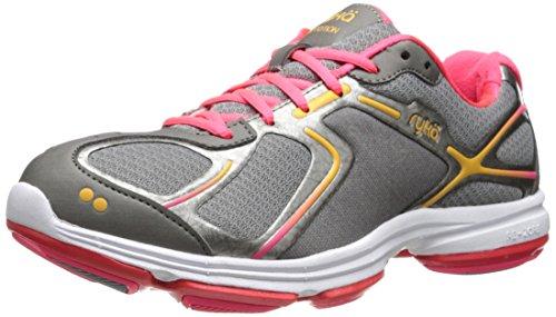 RYKA Women's Devotion Walking Shoe,Grey/Pink,8.5 M US
