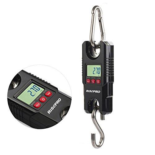 Digitalekofferwaage, RISEPRO Gepäckwaage Hängewaage Gepäck Fischerei Balance Pocket Crane 300 kg Kapazität WH-C300
