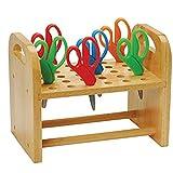Constructive Playthings Natural Wood Scissors Holder, Classroom, Playroom, Craft Room Orga...