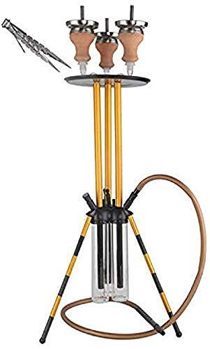 TYX-SS Hookah Shisha de Vidrio de Acero Inoxidable Recipiente de cerámica Superior Clip de Manguera de Silicona Kit de Placa de Barra de Hookah de carbón Ahumador de carbón