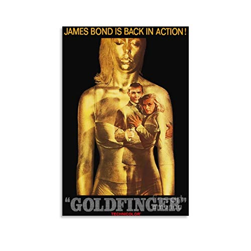 YISHUI Sean Connery James Bond 007 Goldfinger Movie Poster 60s Poster Decorative Painting Canvas Wall Art Living Room Posters Bedroom Painting 20x30inch(50x75cm)