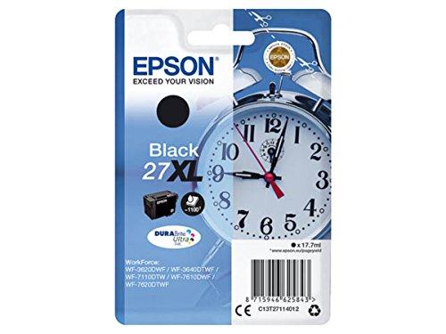 Epson Originale - Epson Workforce WF-3620 DWF (27XL / C13T27114012) - Cartuccia d'inchiostro nero - 1.100 pagine - 17,7 ml