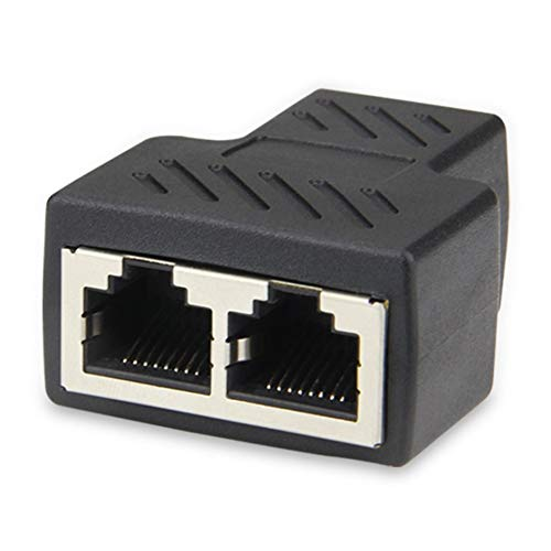 SENZHILINLIGHT RJ45 Ethernet LAN red Y divisor 3 puertos acoplador conector 1 a 2 zócalo divisor hembra enchufe de red