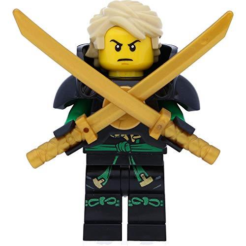 LEGO Ninjago - Figura de Lloyd en armadura con espadas (piratas aéreas/Skybound)