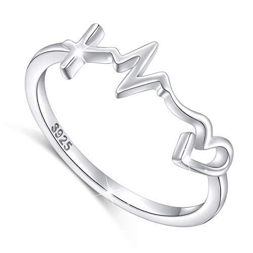 S925 Sterling Silver Faith Hope Love Ring for Women Girls Christian Jewelry Gifts (sterling-silver style 1, 8)