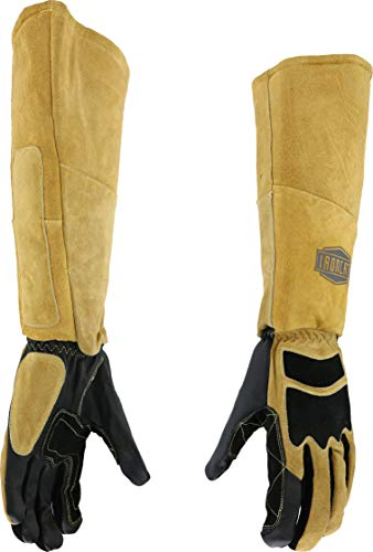 West Chester IRONCAT 9070LHO Goat and Cow Stick Welding Glove -Medium, Pre-Curved Fingers, Kevlar Thread, Climax Aerogel Insulation