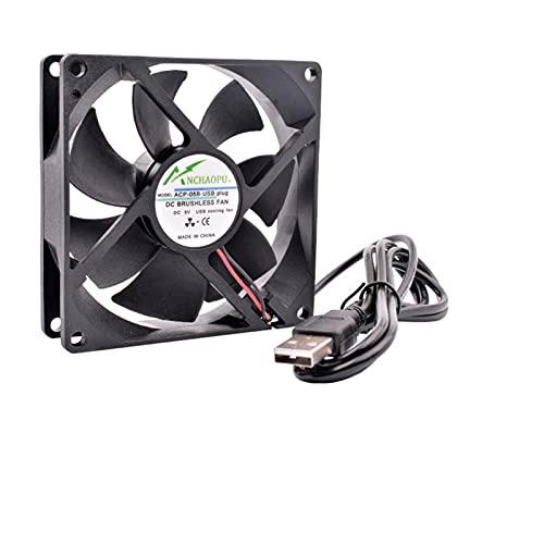 Chasis 40mm 50mm 60mm 70mm 80mm 92mm 120mm DC5V USB Conector silencioso Ventilador de enfriamiento para Bricolaje Enrutador de enfriamiento Juego TV Box Fuente de alimentación Accesorios