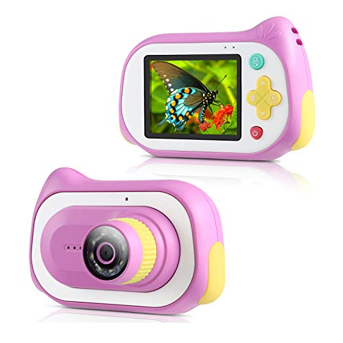 Kids Digital Camera,Koolertron Upgraded 15MP 4K Compact Starter Camera Mini Video Player Recorder & 200X Magnifier Digital Microscope 32GB TF Card for Children 3-10 Years Old Boys Girls