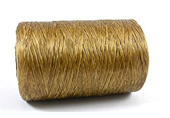 Kulay Artificial Deer Sinew Natural Waxed Poly Thread for Beading Craft and Sewing  1 Single Spool 5-Ply 8 Ounces 300 Yards or 900 Feet