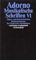 Musikalische Schriften 6: Band 19: Musikalische Schriften VI