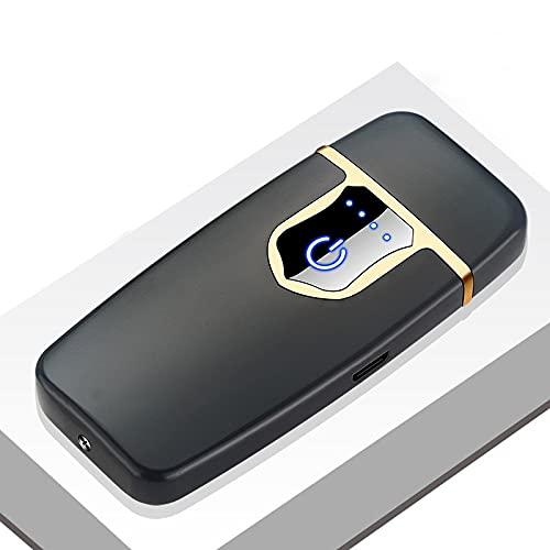 Encendedor USB recargable a prueba de viento de doble arco de plasma sin llama Encendedor eléctrico de la vela del cigarrillo D