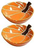 DWhui 2 Pezzi Grandi Ciotole di insalataio Ciotole di Zucca Ceramica per Cucina, a Forma Antiscivolo, Grande Ciotola da Portata per zuppa, Insalata, Noodle, Cereali e pho, microonde cassaforte