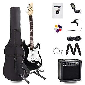 Rocktile Pack guitarra eléctrica ST negro (incl. ampli, funda, afinador, cable, correa, cuerdas): Amazon.es: Instrumentos musicales