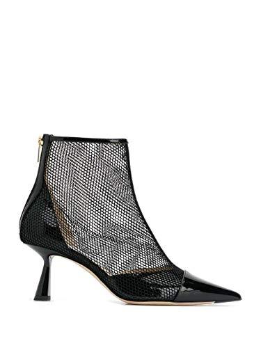 Luxury Fashion | Jimmy Choo Dames KIX65TNXBLACK Zwart Lak Enkellaarzen | Herfst-winter 19
