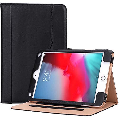 ProCase iPad Mini 5 Case 2019 / iPad Mini 4 Case 2015, Vintage Stand Folio Case Smart Cover for 7.9 Inch Apple iPad Mini 5th Generation 2019 / iPad Mini 4, with Auto Sleep/Wake -Black