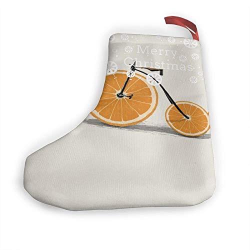 JONINOT Orange Fahrrad 10 in Weihnachtsstrümpfen Weihnachtskamin hängende Strümpfe Dekoration für Weihnachtsfeier Zubehör (2 Stück)