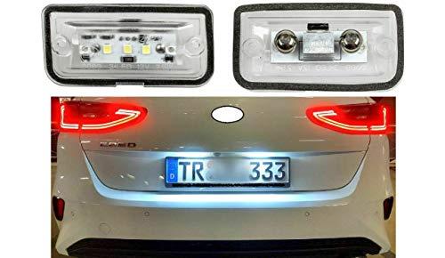 Top Lot de 2 LED SMD Éclairage de plaque minéralogique sans TÜV
