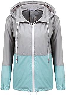 SoTeer Women's Waterproof Raincoat Outdoor Hooded Rain...
