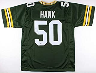 A.J. Hawk Autographed Signed Green Bay Packers Jersey Beckett Super Bowl Champion Xlv