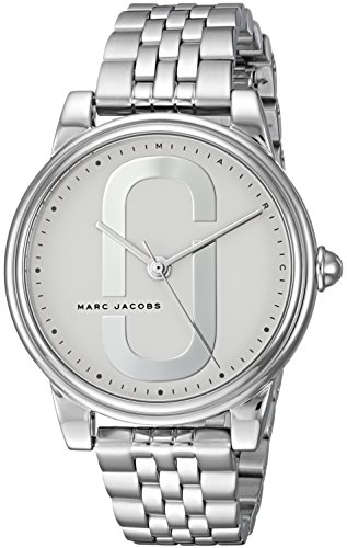 Marc Jacobs Women's Corie Analog-Quartz Watch with Stainless-Steel Strap, Silver, 3 (Model: MJ3559)