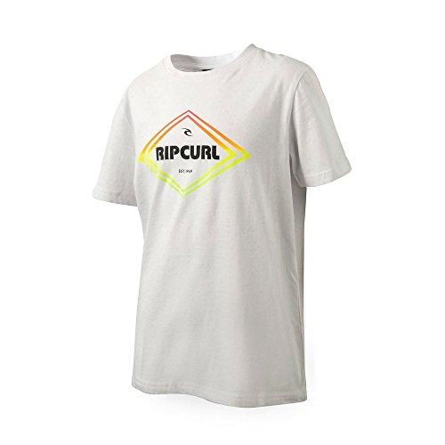 Rip Curl gradian Diamond tee- Camiseta Casual para niños (10, Blanco)