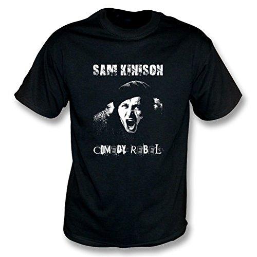 Le médium de T-shirt de rebelle de comédie de Sam Kinison, colorent le noir