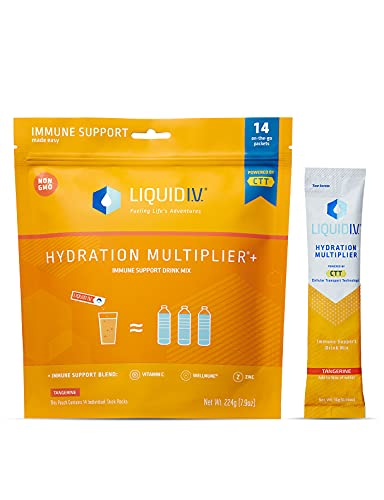 Liquid I.V. Hydration Multiplier + Immune Support, Easy Open Packets,...
