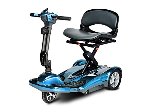 Best Prices! EV Rider Transport AF-Auto Folding Scooter with Free Front Tiller Bag -Blue