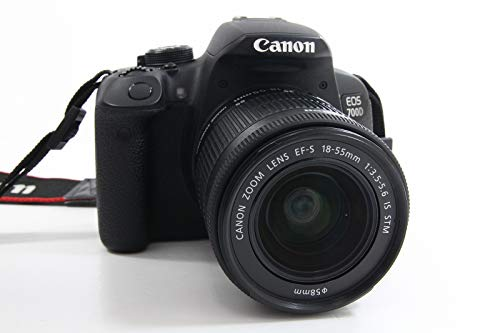 Canon EOS 700D Fotocamera Reflex Digitale, 18 Megapixel, Obiettivo EF-S 18-55mm IS STM, Ne