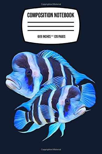 Composition Notebook: Frontosa Cichlid Fish Aquarium Owners Monster Fish Gift 120 Wide Lined Pages - 6