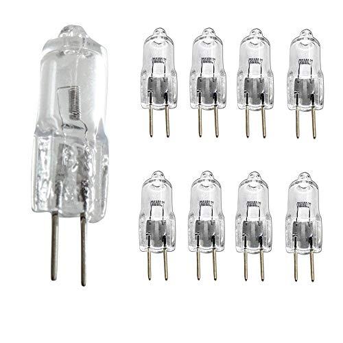 10 unids / lote 24 V bombilla halógena G4 lámpara incandescente regulable blanco cálido 20 W 35 W bombilla de vidrio transparente para candelabro luces para el hogar-G4-24v-20w_10 piezas (blan