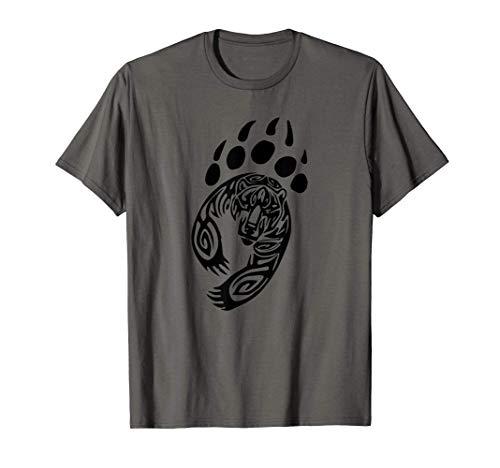Bear Clothing Paw Print Grizzly Black Claw Boy Girl Kids T-Shirt