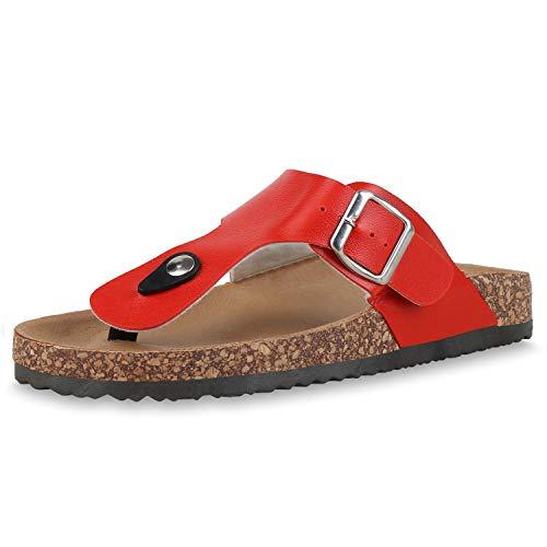SCARPE VITA Dames Slippers Lederlook Zehensteg Sandalen Kurk Zool Flat Schoenen Comfortabel Vrijetijdsschoenen Sommerschuh