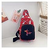 EFGUFHC Bambino Back Bag Cute Girl Girl Boy Cartoon Dinosaur Beld Bag Sacchetto monetario Cerniera Zipper Vita Pacchetto Bum Bag Leggero (Color : Red)