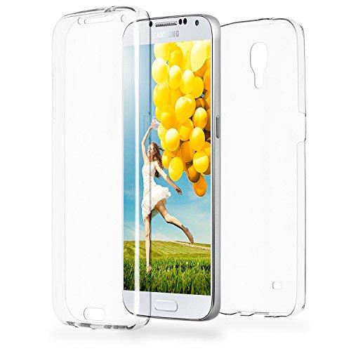 MoEx® Double Case kompatibel mit Samsung Galaxy S4 Hülle Silikon Transparent | Beidseitige Handyhülle mit 360 Grad Komplett Rundum-Schutz, Transparent