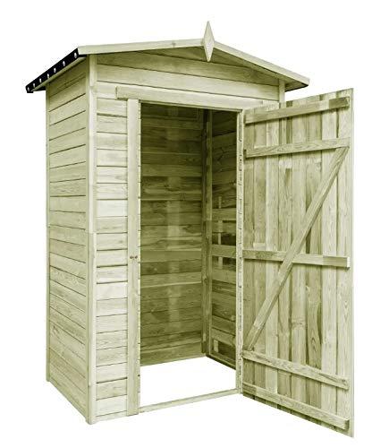 Casetta da giardino, capanno in legno di pino con tetto impermeabile, per giardino esterno, 150 x 100 x 210 cm