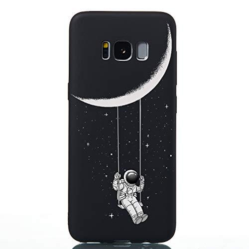 Klassikaline® Schutzhülle Kompatibel mit Samsung Galaxy S8, TPU Silikon Etui Protective Silikonhülle Bumper Handy Case Hülle Softcase - Mondschaukel