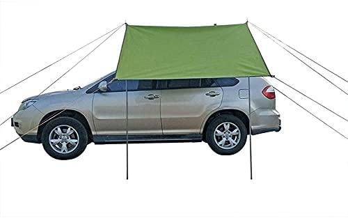 FCPLLTR Auto Camping Tienda portátil Impermeable Coche toldo toldo tejado Taza Sol Sol cobertizo Sombra para la Familia al Aire Libre Pesca Playa Viajes verde300x150cm (Color : Green440x200cm)