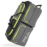 Best Rolling Duffels - Fila 7-Pocket Large Rolling Duffel Bag, Grey/Neon Lime Review