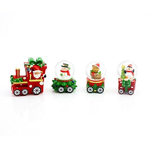 """Schneekugel Eisenbahn """"Weihnachtsmann und Freunde"""" in einer Geschenkverpackung - Länge ca. 23 cm"""