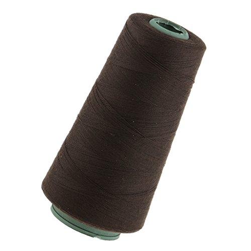 MagiDeal Fil Epais Durable pour Décoration, Couture, Tissage, Extensions de Cheveux,Trame de Perruque - Marron foncé, 11 x 5cm