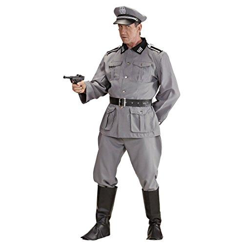 Amakando WW2 Soldaten Kostüm Herrenkostüm Deutscher Soldat L 52 Militär Uniform General Historisches Soldatenkostüm Offizier Armee Outfit Männer 2. Weltkrieg Verkleidung