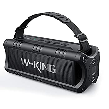 Bluetooth Speaker W-KING 30W Portable Wireless Speakers 24 Hours Playtime with Powerful Bass DSP NFC TF Card USB Playback Bluetooth V5.0 Built-in Mic AUX Waterproof Speaker