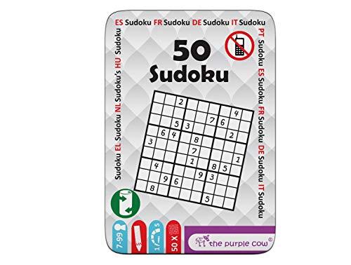 "The Purple Cow- The ""50"" Series - Juego To Go - 50   Sudoku Puzzles Diferentes para niños  7+"