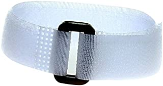 HIMRY KXB5022-45x-white, Atadura Cables de Nylon Reutilizable con Anillo de Seguridad, Color Blanco (White), 25 cm x 2 cm, 45 uds