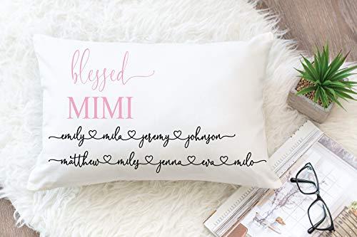 Regalo para Mimi, almohada bendecida Mimi, almohada Mimi, regalo personalizado Mimi, regalo de abuela, regalo de Navidad para Mimi.