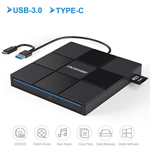 Moskee Type C External CD DVD Drive,with USB Port...