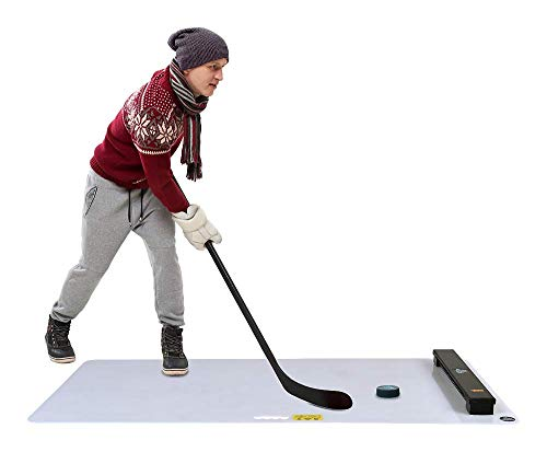 Hockey Revolution My Shoot PAD Hockey Shooting Board Plus Passer - Professional-Grade Practice Surface with Rebounder for Passing & Stickhandling - Portable Sports Training Equipment - 30