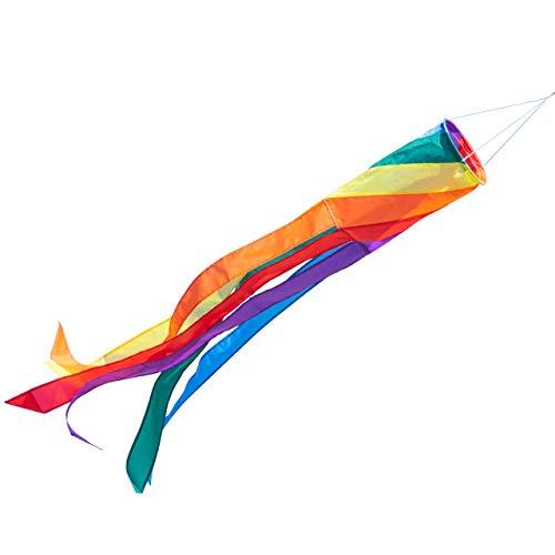 CIM Windsack - 100 Spiral - UV-beständig und wetterfest - Ø11cm, Länge: 100cm - inkl. Kugellagerwirbelclip (Spiral)