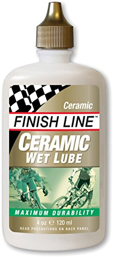 Finish Line Ceramic Wet Cycling Chain Lubricant - 120ml/ Bicycle Cycling Cycle Biking Bike Lube Care Mountain MTB Off Road Racing Race Grease Maintenance Part Component Gear Kit Spare Cross Country
